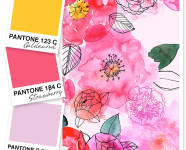 Yellow, Pink and Lilac Color Palette