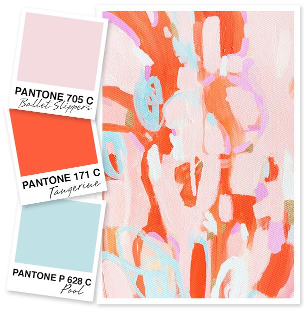 Pale Pink, Orange, and Blue Color Palette