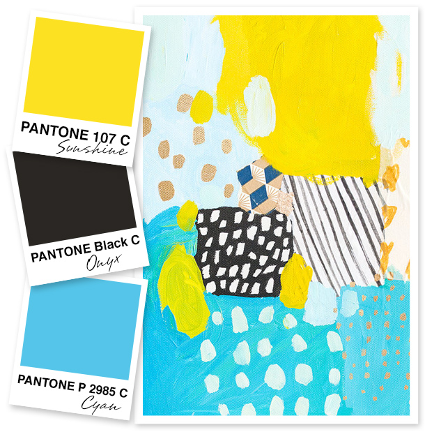 Yellow, Black and Blue Color Palette