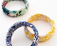 DIY Fabric Wrapped Bangle Bracelets