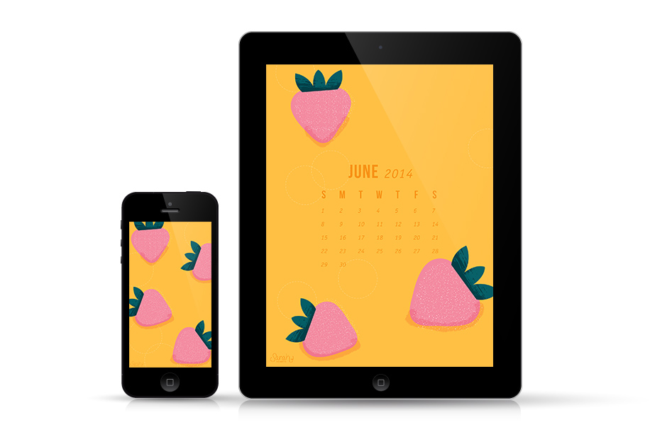 Show your love of summer with this fun strawberry wallpaper. It's available for all your tech with a calendar, and with an inspirational quote.