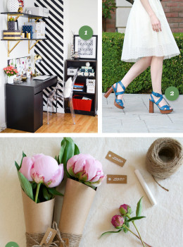Looking for a fun weekend project? How about sewing a lace skirt, creating a striped accent wall, or making someone's day with a pretty bouquet.