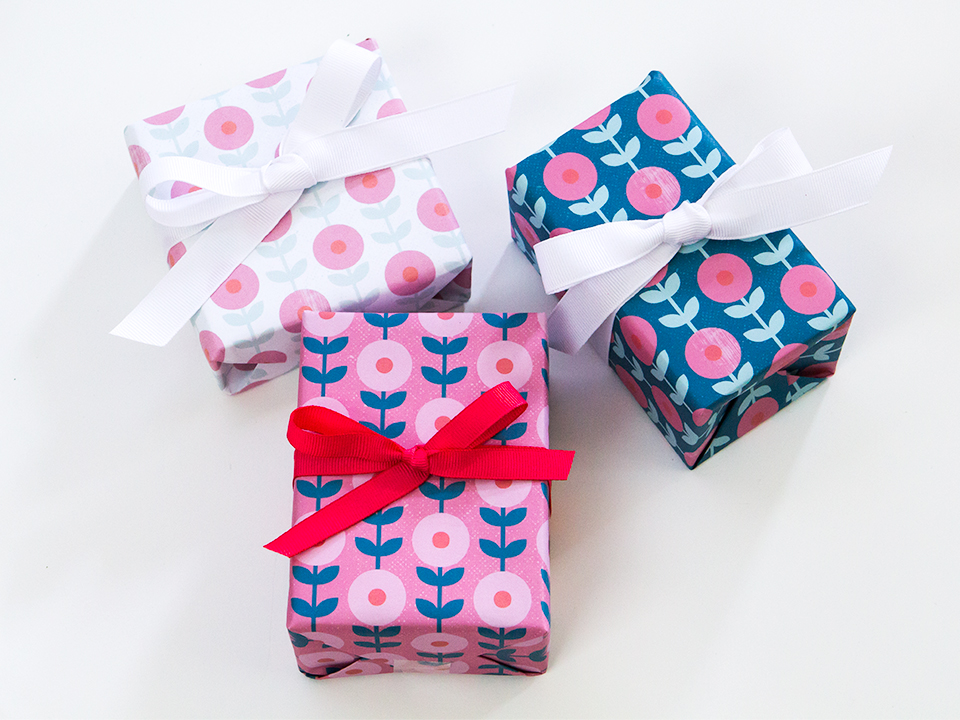 Wrapping a gift? Print out this free floral gift wrap to make your gift even more special.
