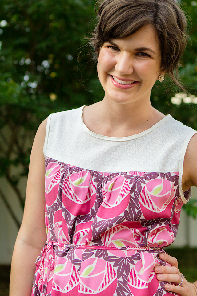 Create your new favorite dress with less than two yards of fabric. Or make a sleeveless top with one yard!