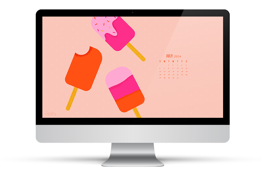 Get ready for summer with this free calendar wallpaper. Click through to download for iPhone, iPad, and computer.