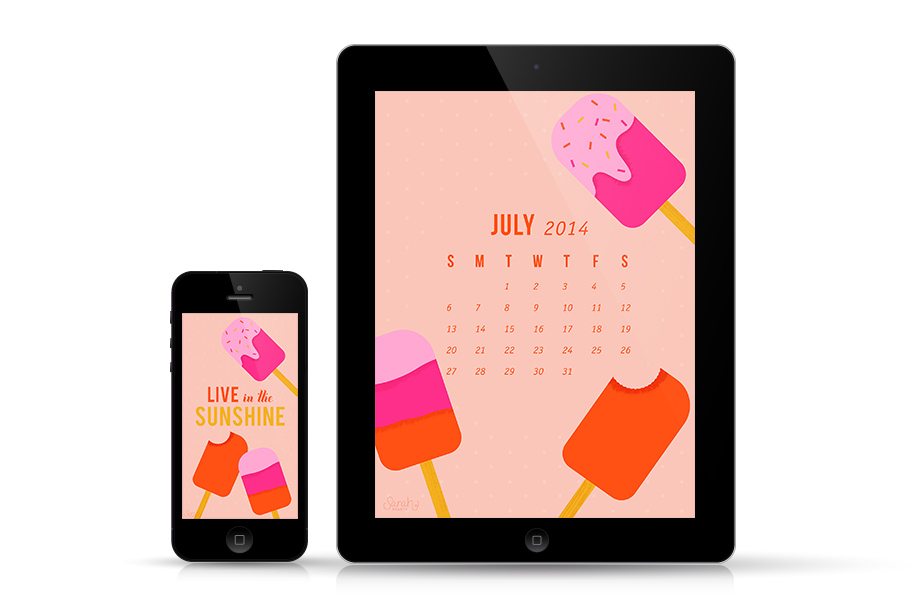 Dress up your mobile devices with these cute popsicle wallopers. Available with and without a calendar.