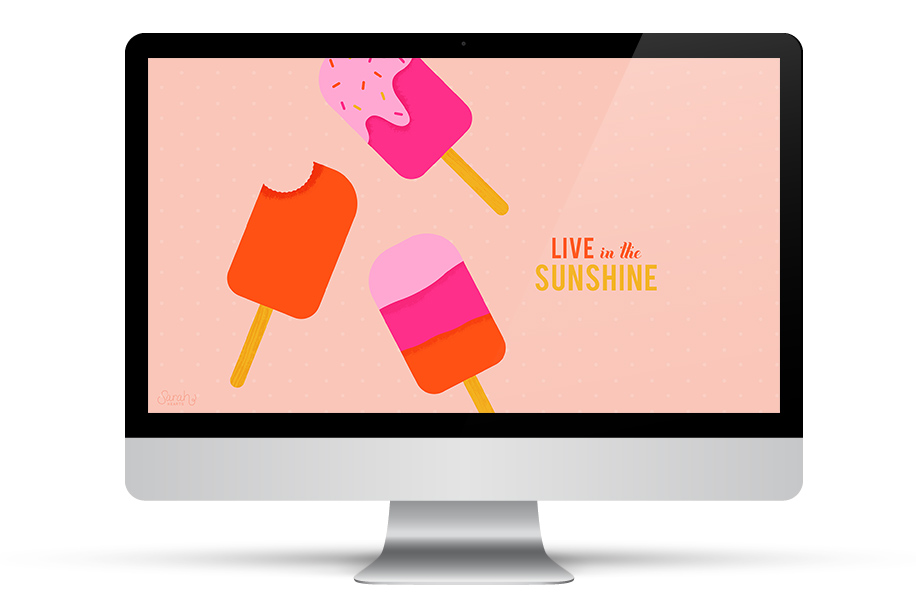 Live in the sunshine! Download this free wallpaper for your phone, tablet and computer.