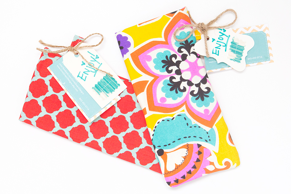 Handmade sunglasses pouches by Lima Green Designs are perfect for stashing away your sunnies.