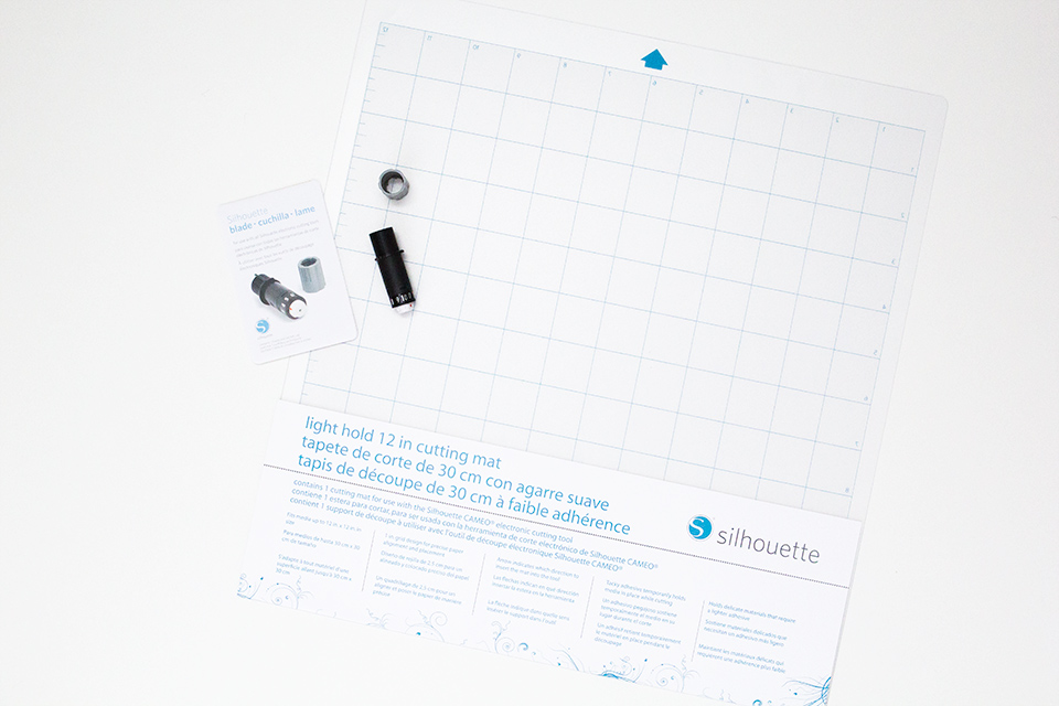 Cutting delicate papers and thin card stock is even easier with Silhouette's new light hold cutting mat.