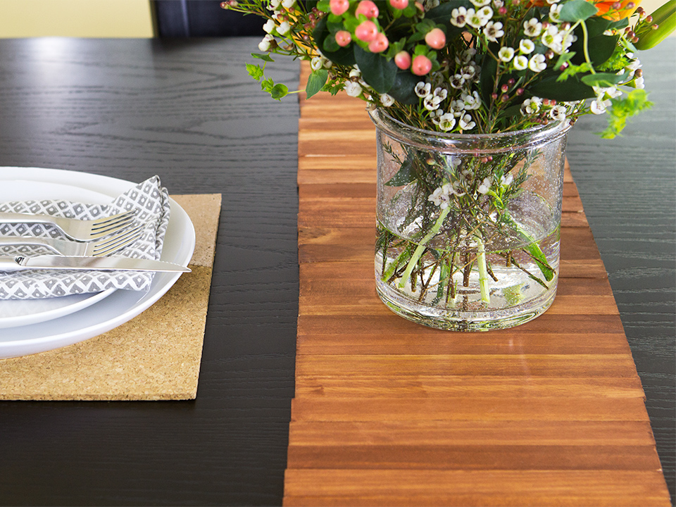 Update The Look For Your Dining Table With A DIY Table Runner Made Out Of  Paint