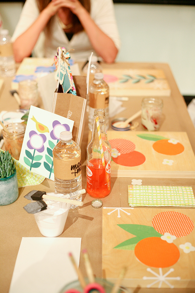 Meet + Make, an evening of crafting, snacks and sips is hosted by Sarah Hearts at West Elm. Click through to see more photos of the event.