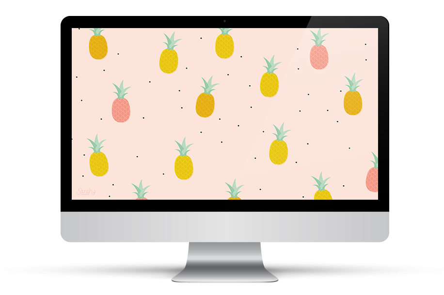Crazy about pineapples? Download this free wallpaper for your phone, tablet and computer.