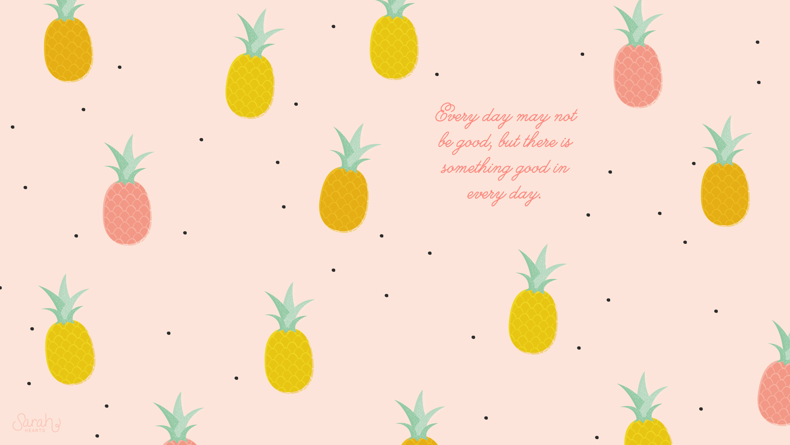 August 2014 Pineapple Calendar Wallpaper