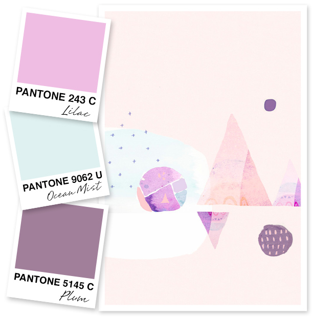 Rethink purple with this lilac, ocean mist, and plum color palette.