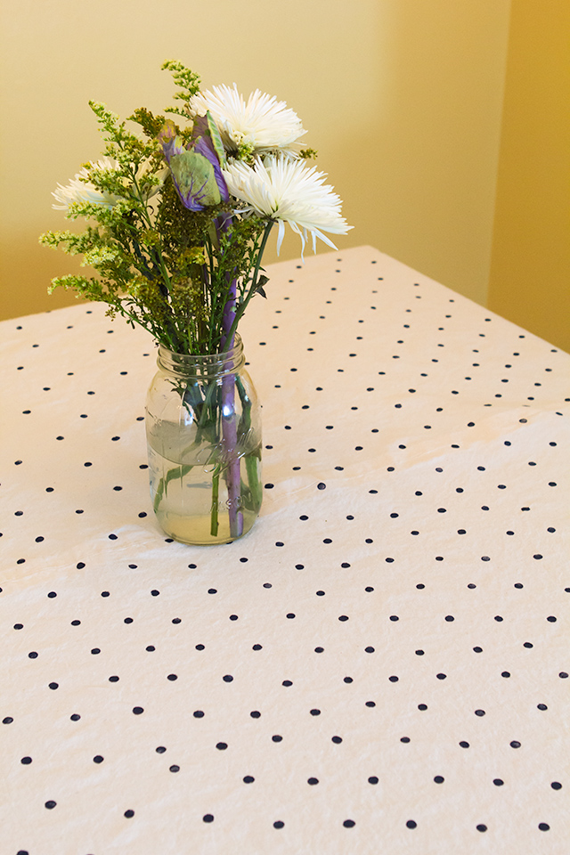 Diy Polka Dot Stamped Tablecloth Sarah Hearts