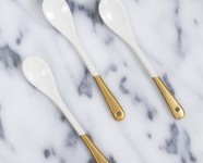 DIY Gold Dipped Porcelain Spoons