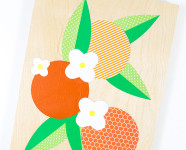 DIY Orange Blossom Collage