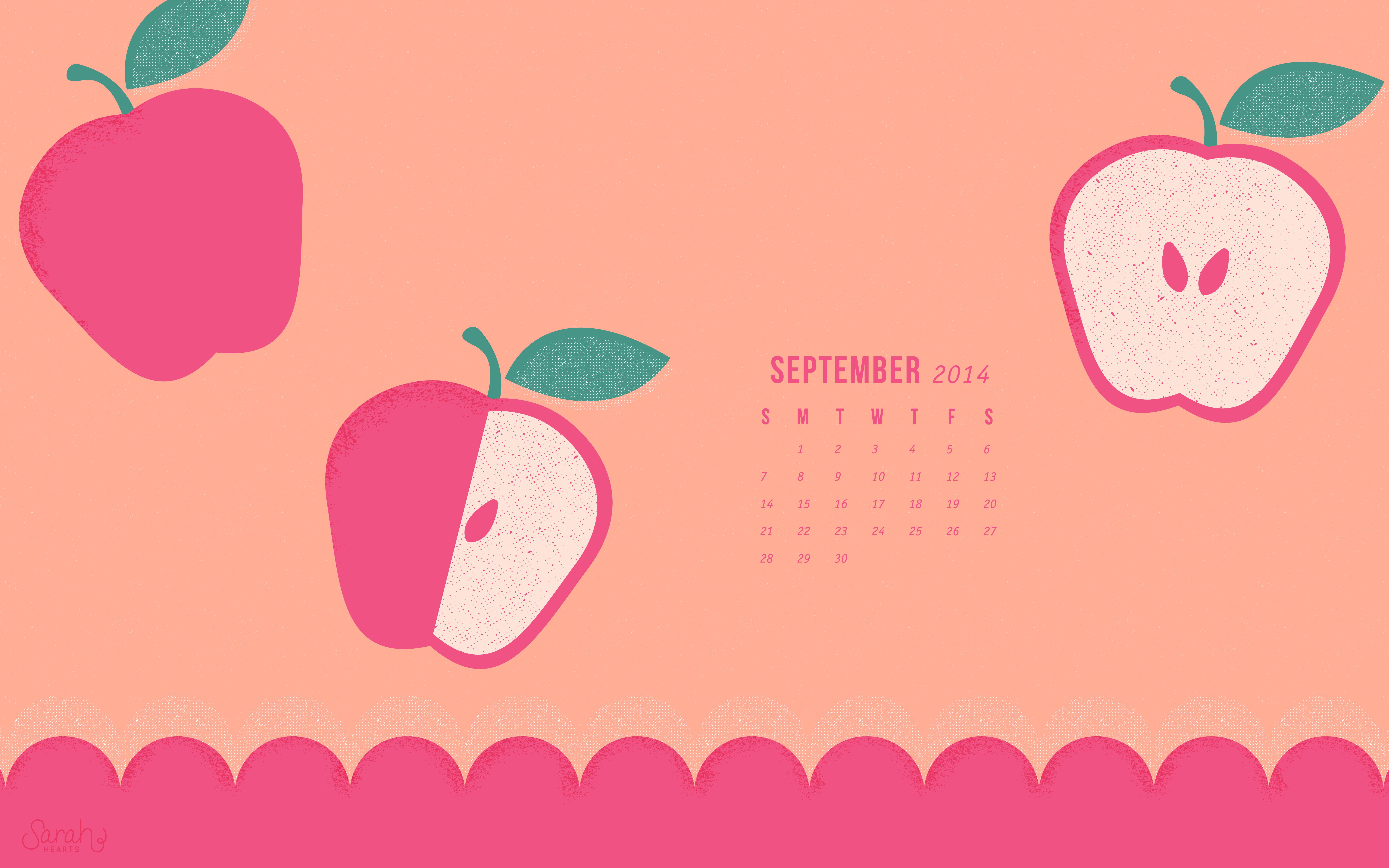 September 2014 Calendar Wallpaper
