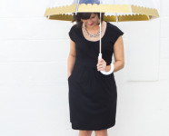 DIY Gold Scalloped Umbrella