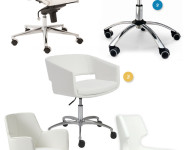 White Low Back Office Chairs