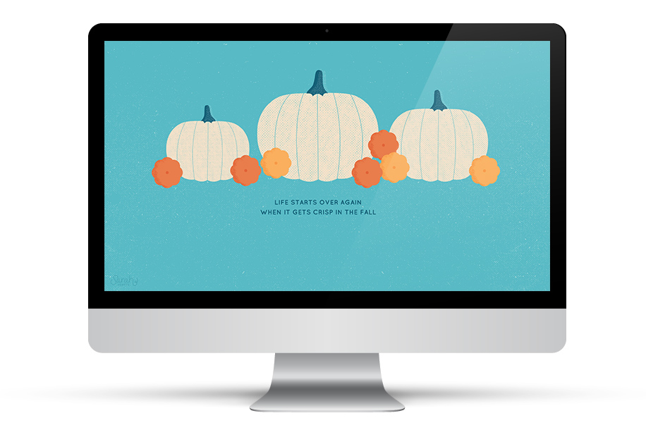 Dress up your desktop for fall with this adorable white pumpkin wallpaper. Also available for tablets and phones, including the iPhone 6 and 6 Plus.
