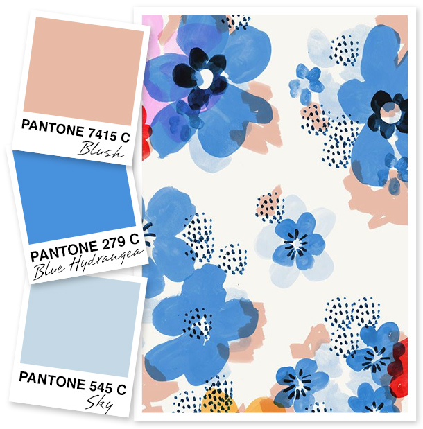 Love blue but not sure what to pair it with? Try it with a soft blush color. It tones down the blue and makes it the perfect palette for anything in the home.