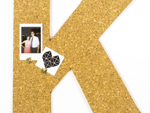 What's a better way to make your home unique than with a monogram! Learn how to create this DIY monogram cork board.