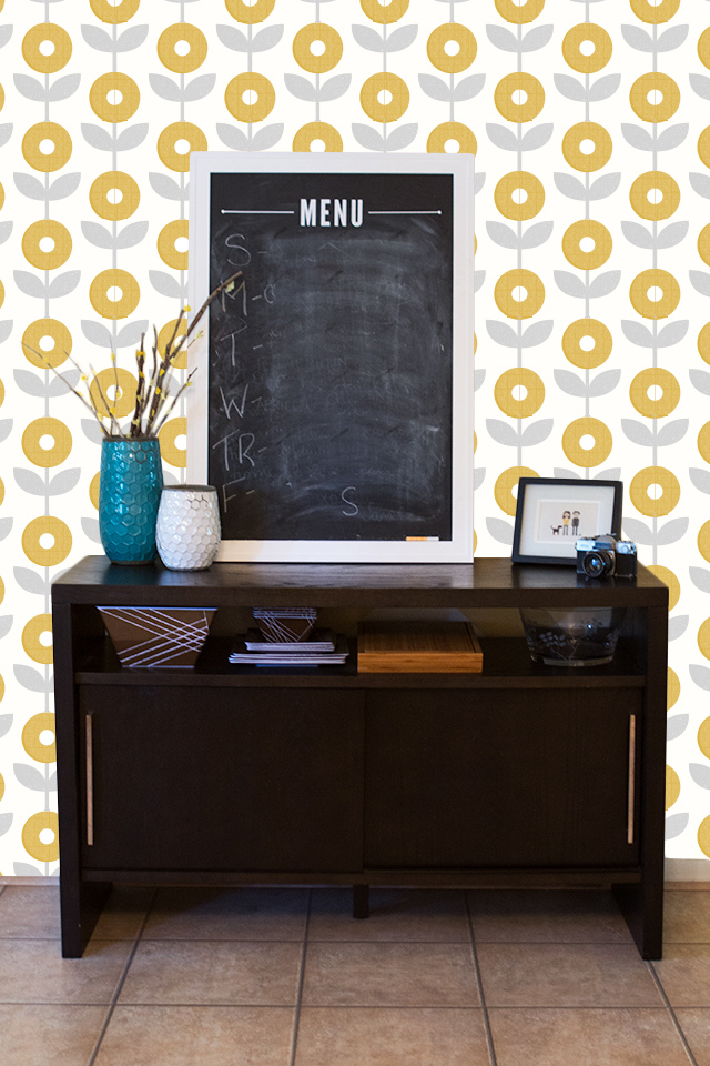 Dreaming up a way to revamp your home? Why not cover one wall with a mod flower print!