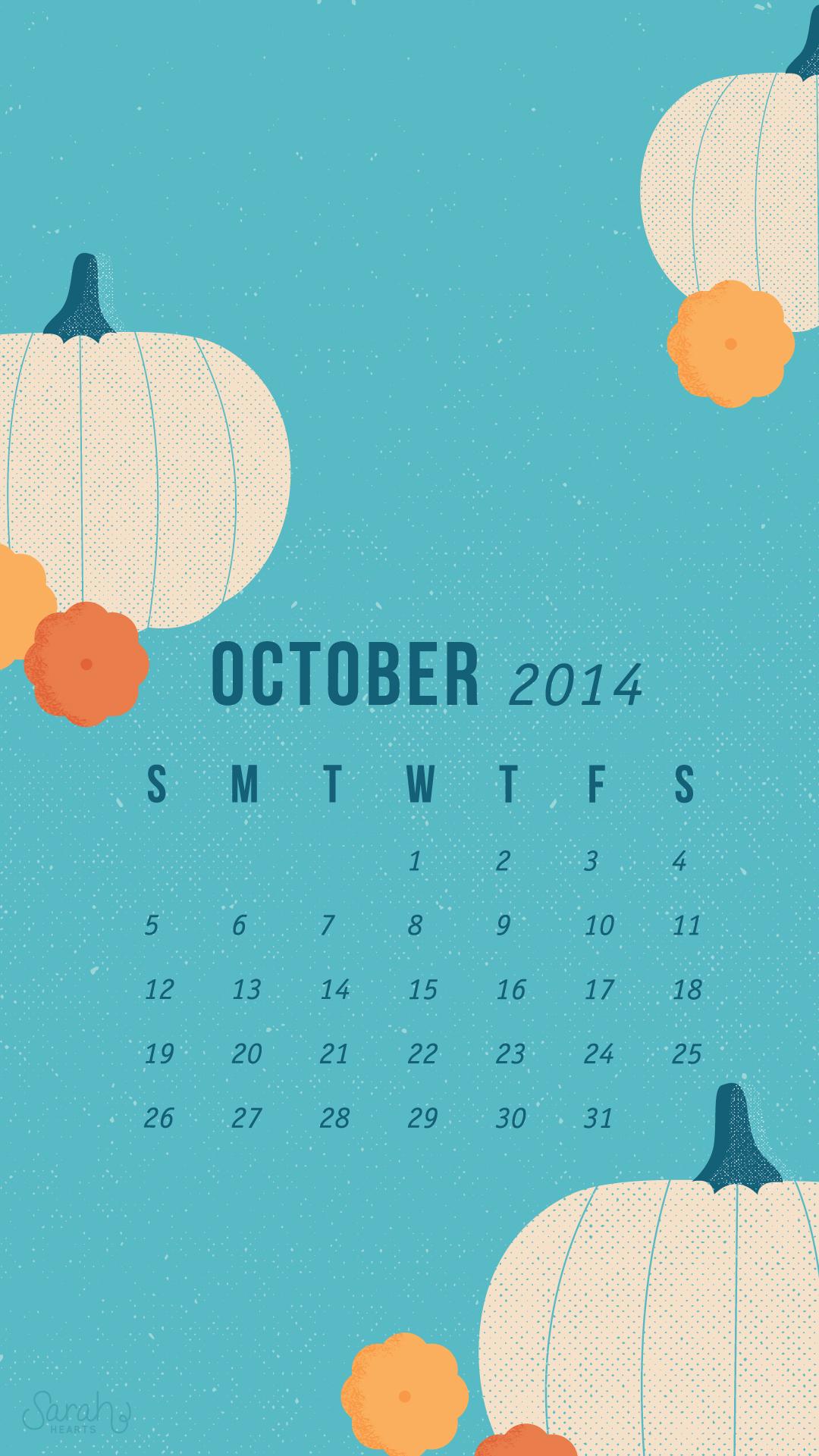 Wallpaper Calendar Oct : October calendar wallpapers sarah hearts