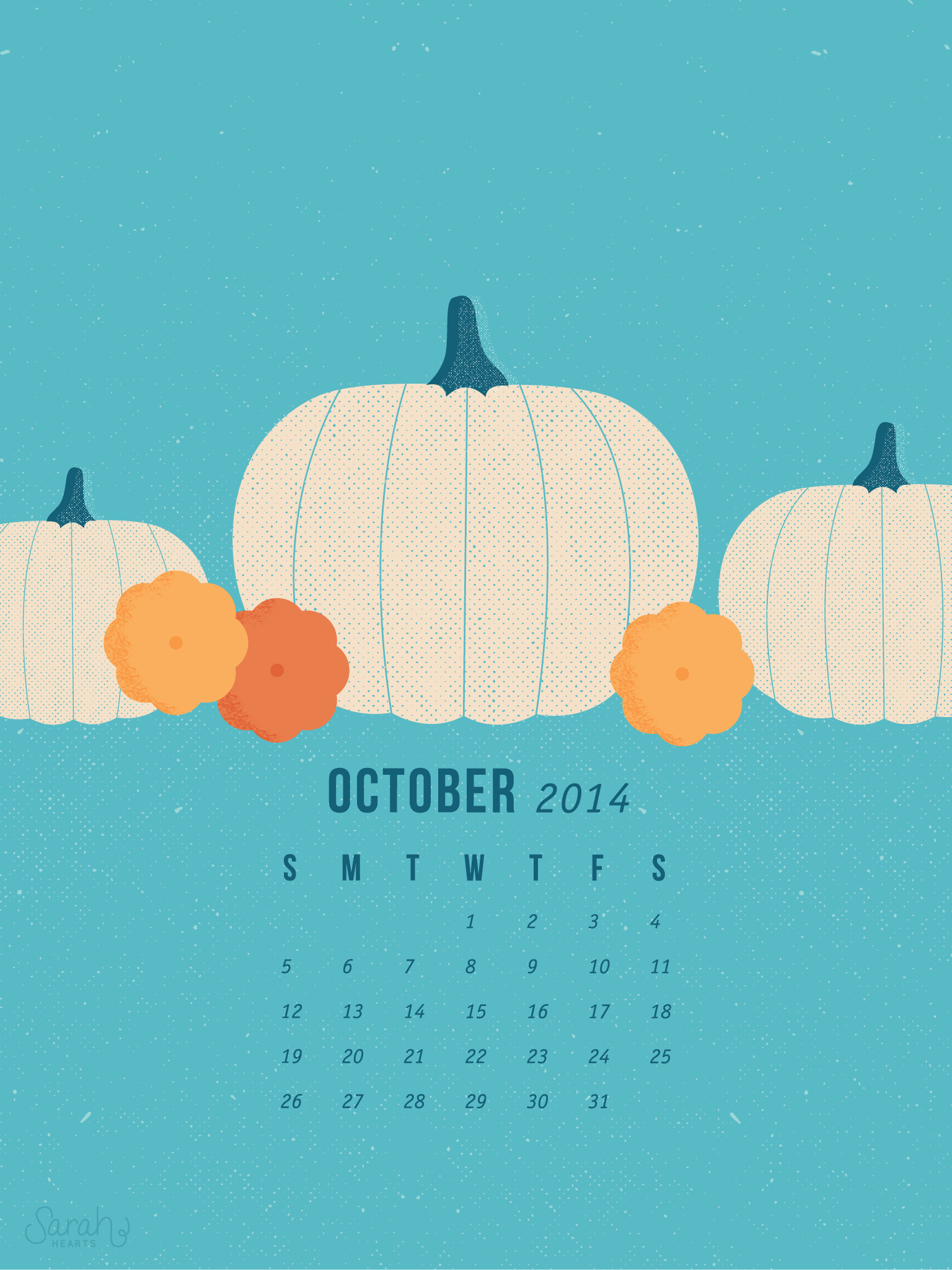 October Calendar Wallpaper Iphone : October calendar wallpapers sarah hearts
