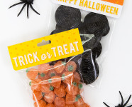 Printable Halloween Banner and Treat Bag Toppers