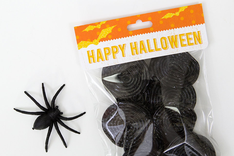 These treat bags would be perfect for a Halloween party, class room treats, or even neighborhood trick or treaters.