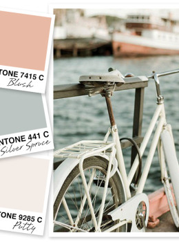 This blush, silver spice and putty color palette is so dreamy! Love it!