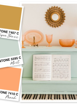I don't think I will ever grow tired of this color palette of gold, mint and peachy coral.