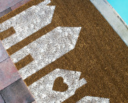 DIY Painted House Doormat