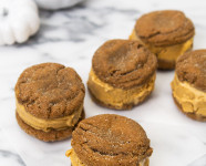 Pumpkin Ginger Snap Ice Cream Sandwiches
