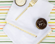 DIY Gold Scalloped Edge Napkins