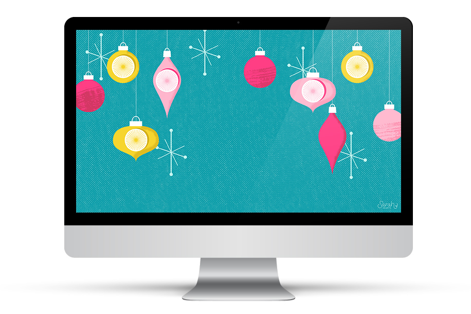 Love this retro inspired holiday wallpaper! It's available with a December calendar too!