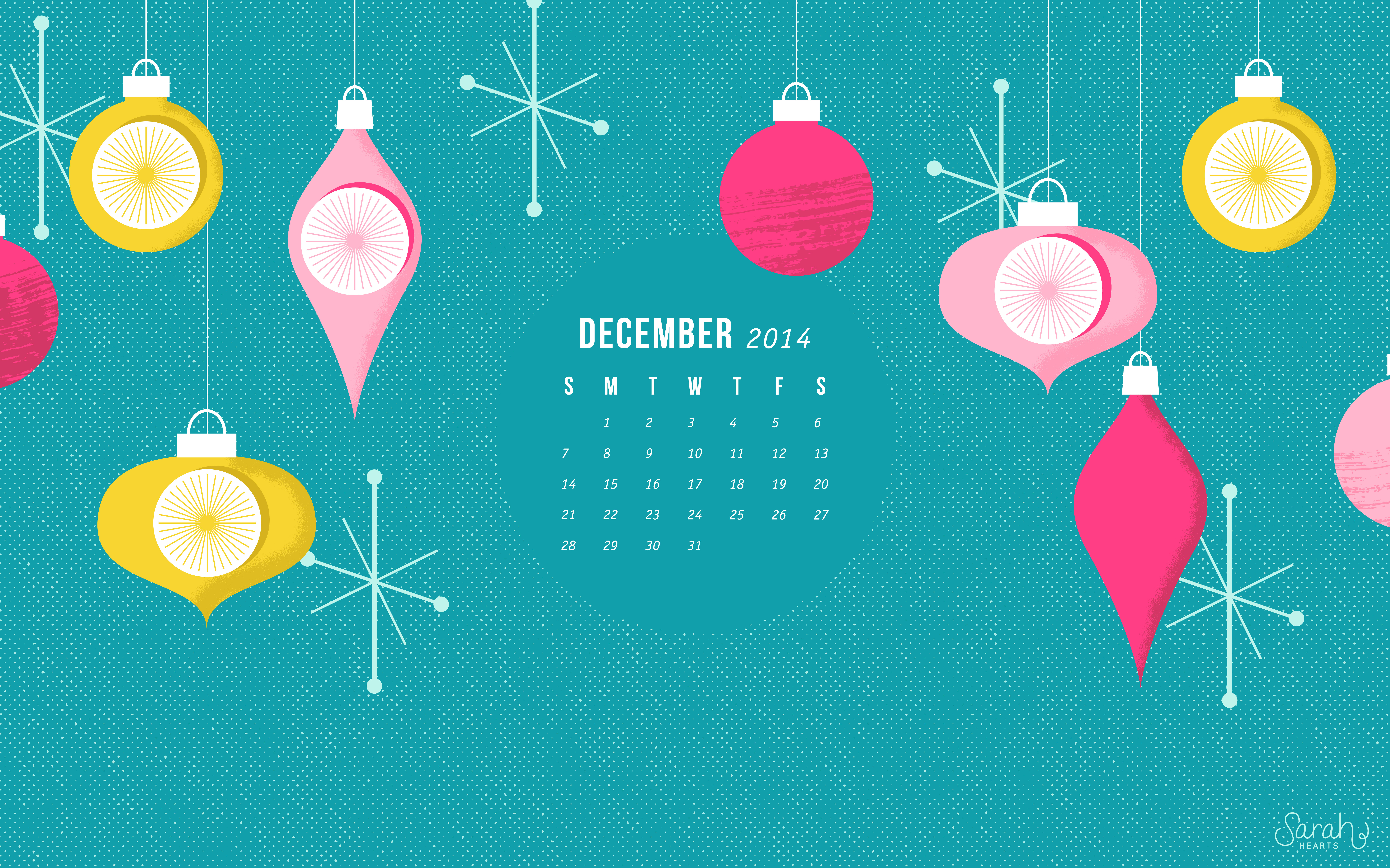 Cute Calendar Wallpaper : December calendar wallpaper sarah hearts