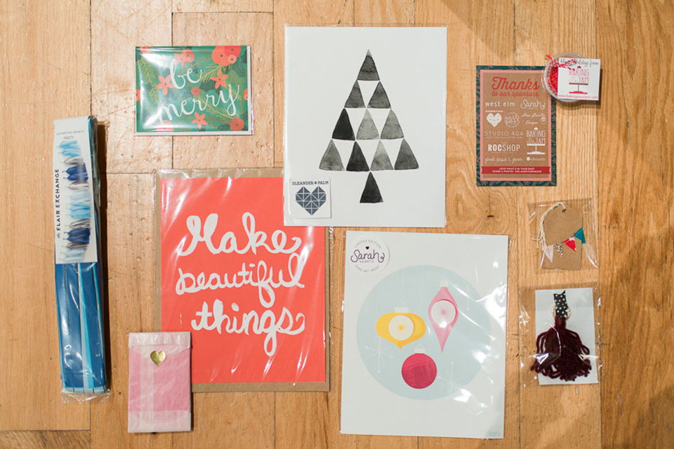 Loving all these handmade goodies that were in the Meet + Make swag bags!