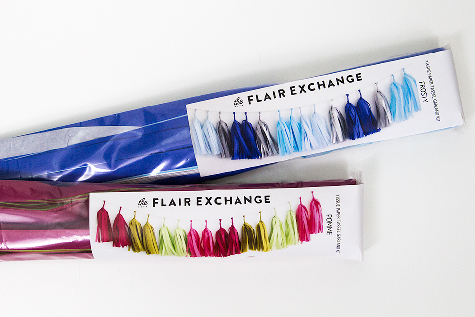 As some flair to your mantel with one of these DIY tassel garland kits from The Flair Exchange.