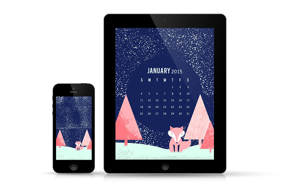 It's a winter wonderland on your iPad and iPhone! Download this free wallpaper with or without your calendar.