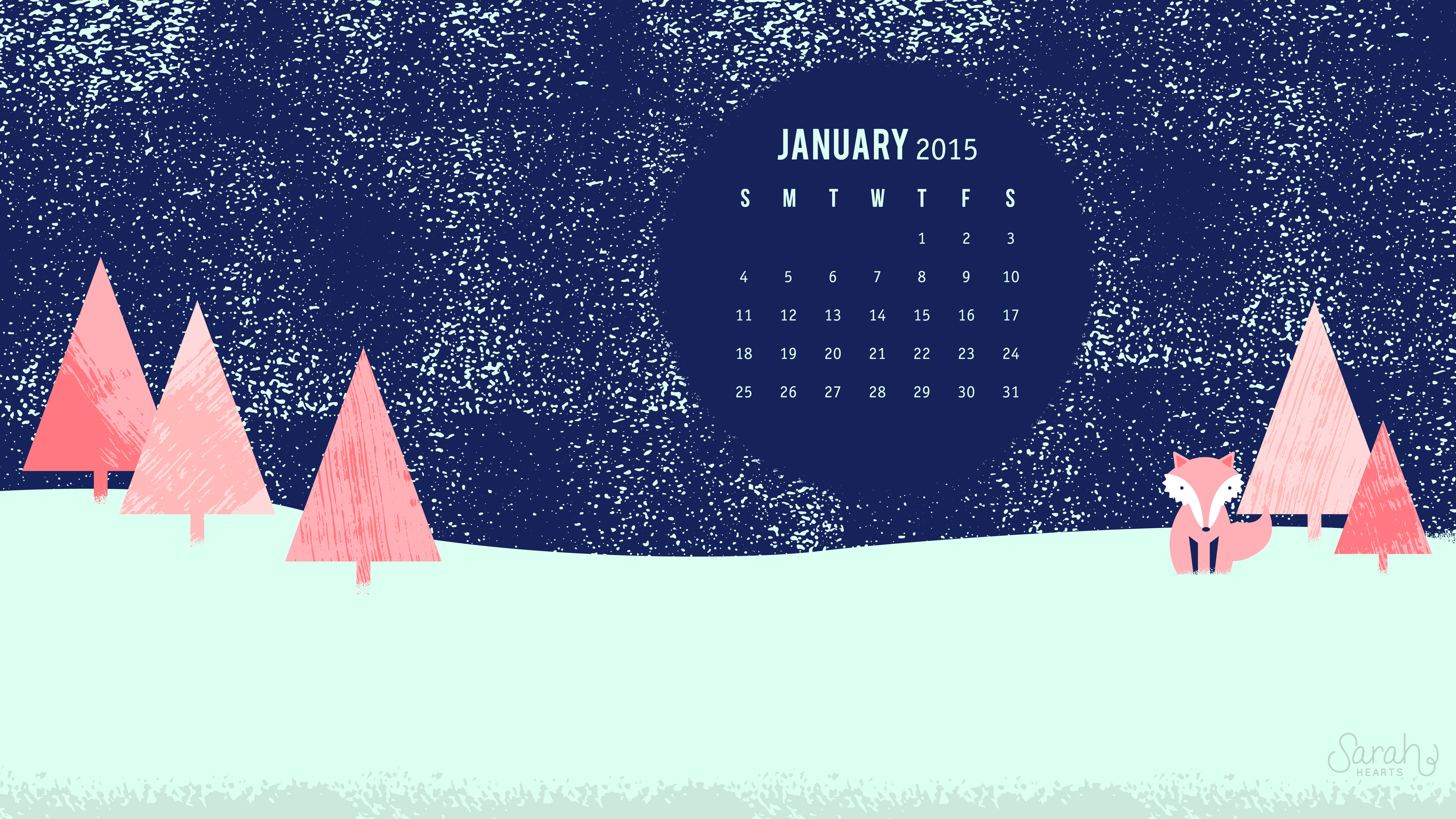january 2015 calendar wallpaper