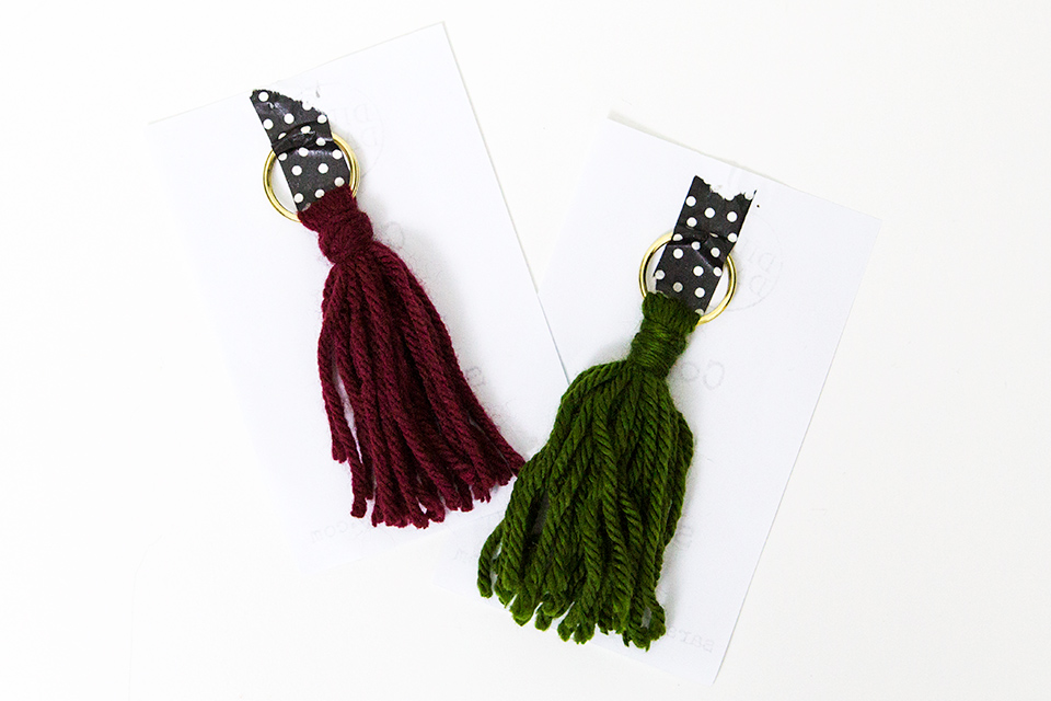 These cute little tassel keychains by Dilly Dally Accessories would make perfect stocking stuffers.