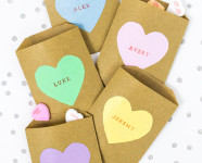 DIY Conversation Heart Treat Bags