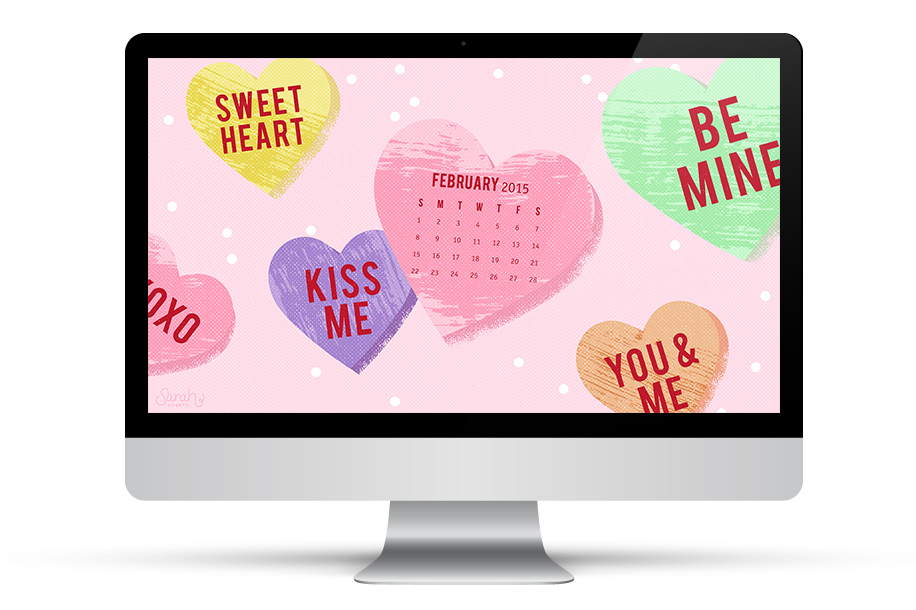 Get in the Valentine's Day spirit with this free wallpaper! Available for your computer, phone, or tablet.