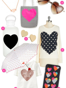 Put a heart on it! Get in the Valentine's Day spirit with these cute heart accessories!