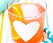 DIY Baby Shower Heart Glasses