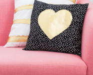 Gold Heart and Scalloped DIY Pillows
