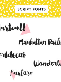 Looking for the perfect script font? Try one of these beautiful typefaces that are inspired by handwriting.